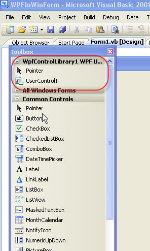 UserControl in Toolbox