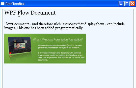 Windows Presentation Foundation: FlowDocuments (Part 1)