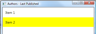 How To Change WPF ListBox SelectedItem Color - Ged Mead's Blog