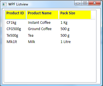 WPF ListView: DataBinding and Column Headers - Ged Mead's Blog